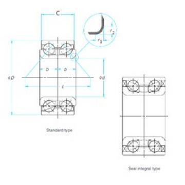 35 mm x 72,02 mm x 33 mm  ISO DAC35720233/31 angular contact ball bearings