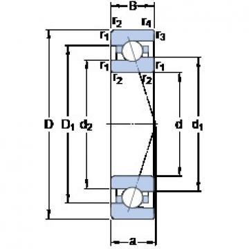 12 mm x 28 mm x 8 mm  SKF 7001 CE/HCP4A angular contact ball bearings