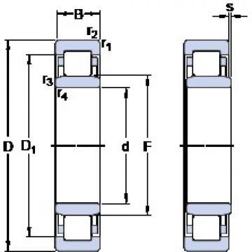 140 mm x 250 mm x 42 mm  SKF NU 228 ECML thrust ball bearings