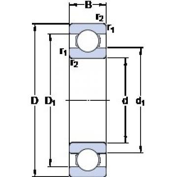 45 mm x 68 mm x 12 mm  SKF 61909 deep groove ball bearings