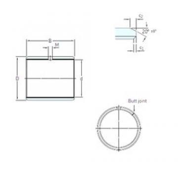 45 mm x 50 mm x 30 mm  SKF PCM 455030 E plain bearings