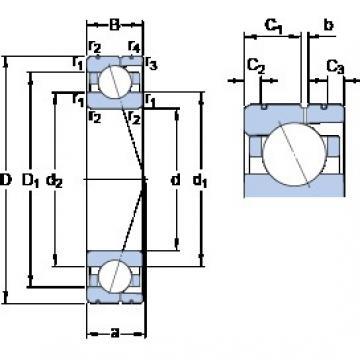 160 mm x 220 mm x 28 mm  SKF 71932 CD/P4AL angular contact ball bearings
