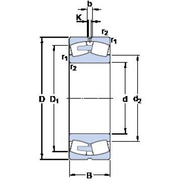 460 mm x 760 mm x 300 mm  SKF 24192 ECA/W33 spherical roller bearings
