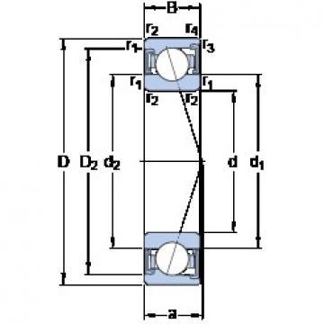 50 mm x 80 mm x 16 mm  SKF S7010 ACD/HCP4A angular contact ball bearings