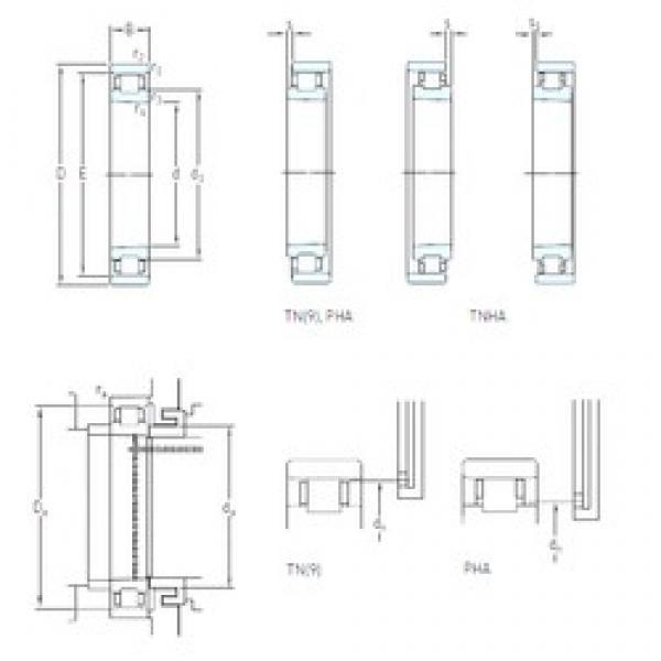70 mm x 110 mm x 20 mm  SKF N 1014 KTNHA/HC5SP cylindrical roller bearings #2 image