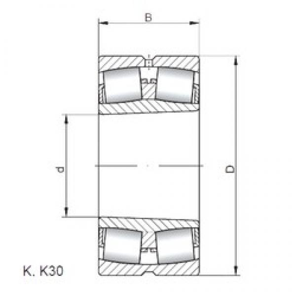 950 mm x 1250 mm x 224 mm  ISO 239/950 KW33 spherical roller bearings #2 image