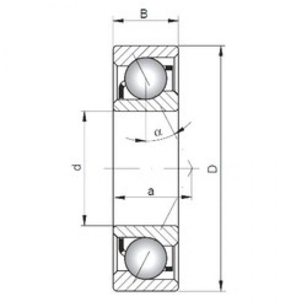 140 mm x 300 mm x 62 mm  ISO 7328 B angular contact ball bearings #2 image