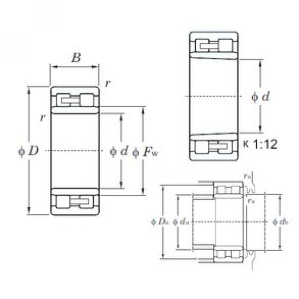 280 mm x 380 mm x 100 mm  KOYO NNU4956K cylindrical roller bearings #5 image