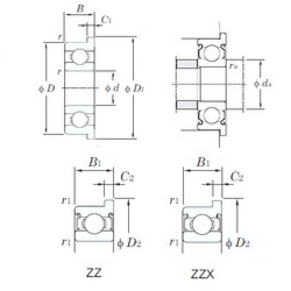 7 mm x 19 mm x 6 mm  KOYO F607ZZ deep groove ball bearings #5 image