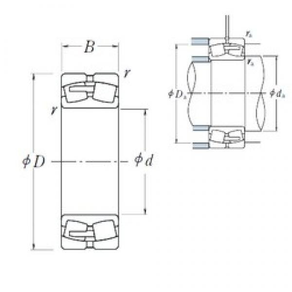 530 mm x 780 mm x 250 mm  NSK 240/530CAE4 spherical roller bearings #3 image