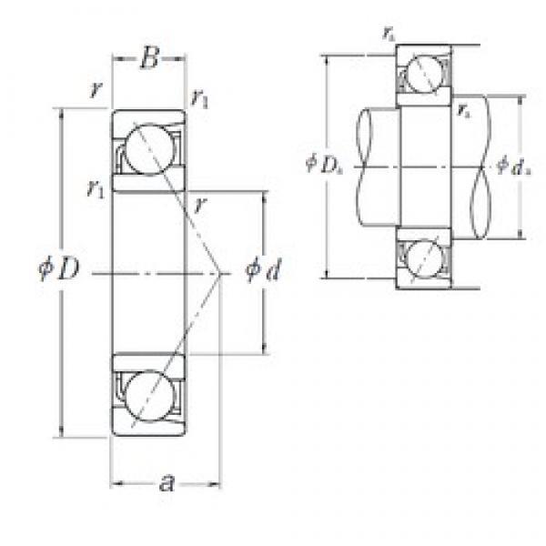 120 mm x 220 mm x 40 mm  NSK BT120-1 angular contact ball bearings #3 image