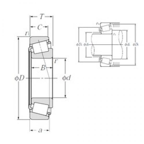 50,8 mm x 98,425 mm x 30,302 mm  NTN 4T-3780/3732 tapered roller bearings #3 image