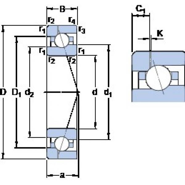 35 mm x 62 mm x 14 mm  SKF 7007 ACE/HCP4AH1 angular contact ball bearings #2 image