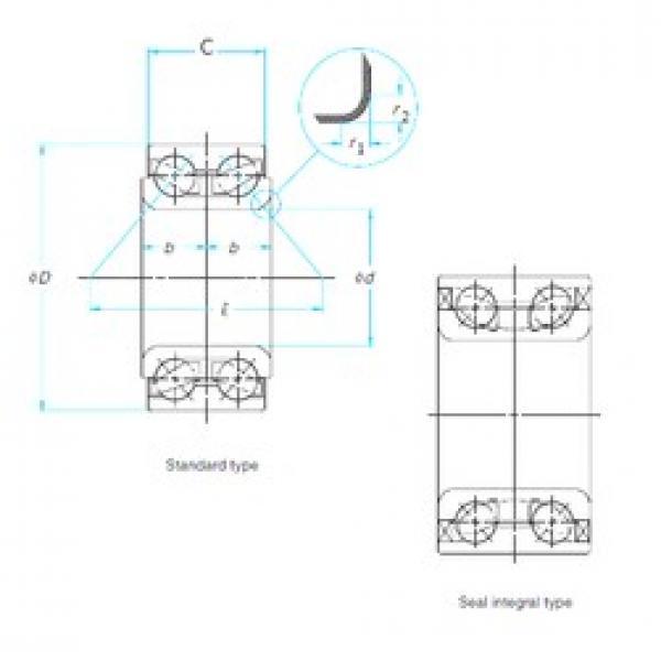 35 mm x 72 mm x 34 mm  NSK 35BWD01 angular contact ball bearings #3 image
