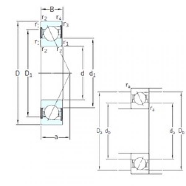 85 mm x 150 mm x 28 mm  SKF S7217 ACD/HCP4A angular contact ball bearings #2 image